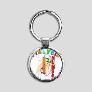 Dialysis Nurse 2011 Round Keychain