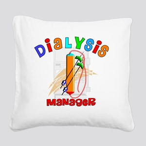 Dialysis Manager 2011 Square Canvas Pillow