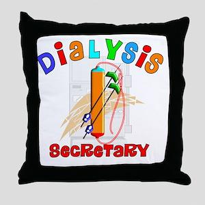 Dialysis secretary 2011 Throw Pillow