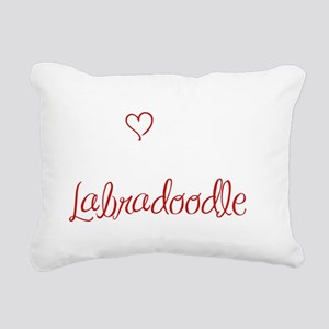 LOVE3 Rectangular Canvas Pillow