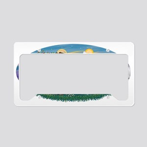 Oval (H) - St Francis - multi License Plate Holder