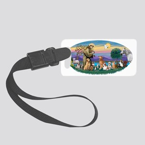Oval (H) - St Francis - multi do Small Luggage Tag