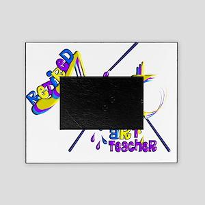 Retired ARt Teacher blue purple Picture Frame