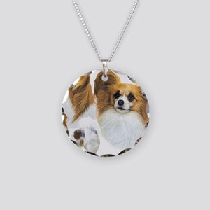 Papillons Necklace Circle Charm