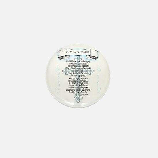 Prayer_StMichael Mini Button