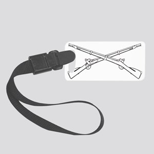 crossed_rifles Small Luggage Tag