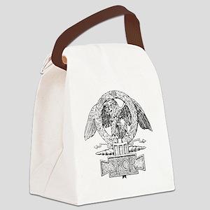 DOogeSPQREagleBWnobkgrd Canvas Lunch Bag