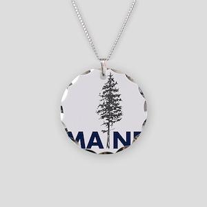 MaineShirt Necklace Circle Charm