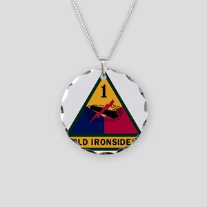 1st Armored Division Necklace Circle Charm