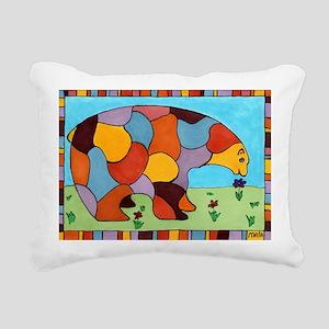 Peace Bear Rectangular Canvas Pillow