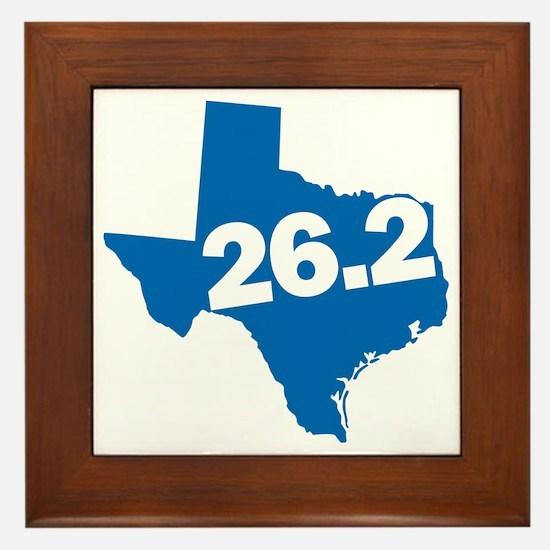Texas Marathoner Framed Tile
