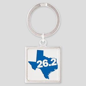 Texas Marathoner Square Keychain