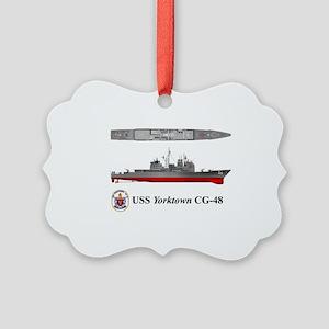 TicoCg-48_Yorktown_Tshirt_10x6 Picture Ornament