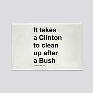 It takes a Clinton to clean up after a Bush Rectan