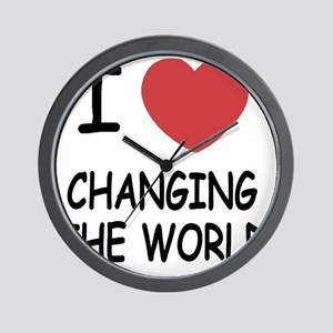 CHANGING_THE_WORLD Wall Clock