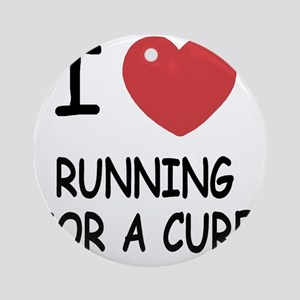 RUNNING_FOR_A_CURE Round Ornament
