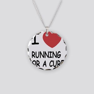 RUNNING_FOR_A_CURE Necklace Circle Charm