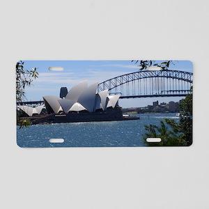 Opera House and Bridge Aluminum License Plate