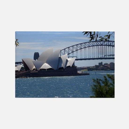 Opera House and Bridge Rectangle Magnet