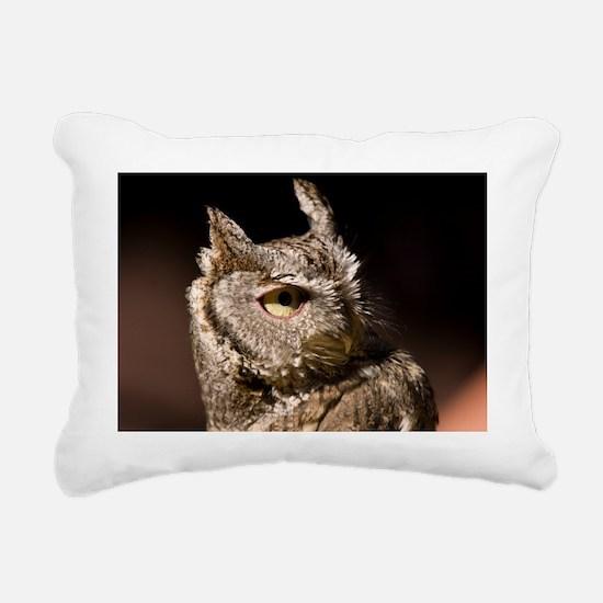 (3) Burrowing Owl Profil Rectangular Canvas Pillow