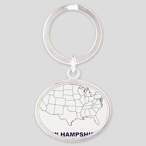 new hampshire Oval Keychain