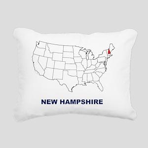 new hampshire Rectangular Canvas Pillow
