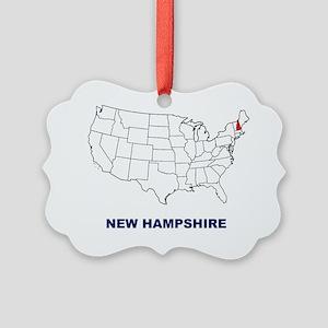 new hampshire Picture Ornament