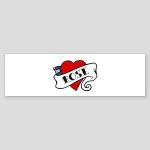 Rose tattoo Bumper Sticker