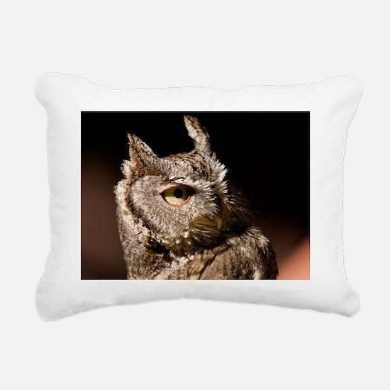 (2) Burrowing Owl Profil Rectangular Canvas Pillow