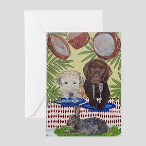 rabbit4x6 Greeting Card
