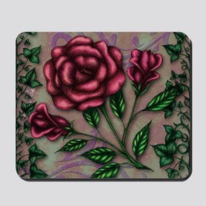 Ivy and Roses Mousepad