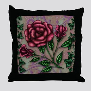 Ivy and Roses Throw Pillow