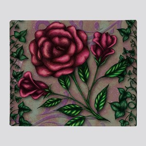 Ivy and Roses Throw Blanket