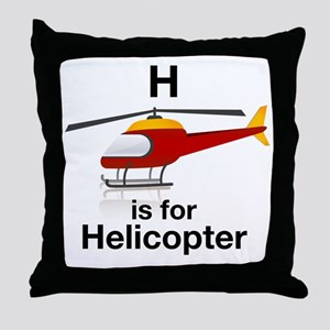 H_is_Helicopter Throw Pillow