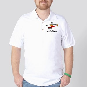 H_is_Helicopter Golf Shirt