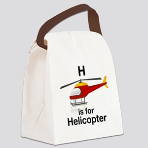 H_is_Helicopter Canvas Lunch Bag