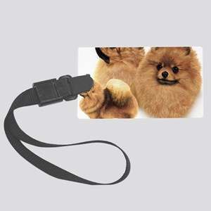 Pomeranian Multi Large Luggage Tag