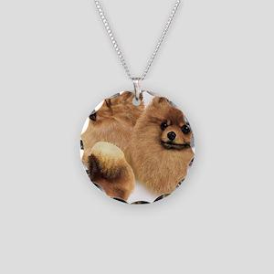 Pomeranian Multi Necklace Circle Charm