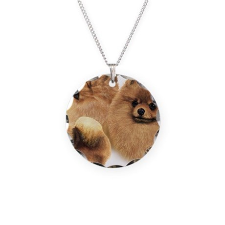 pomeranian charm pomeranian multi necklace circle charm by admin cp36653328 1971