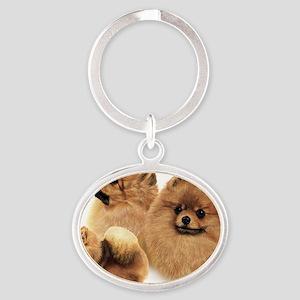 Pomeranian Multi Oval Keychain