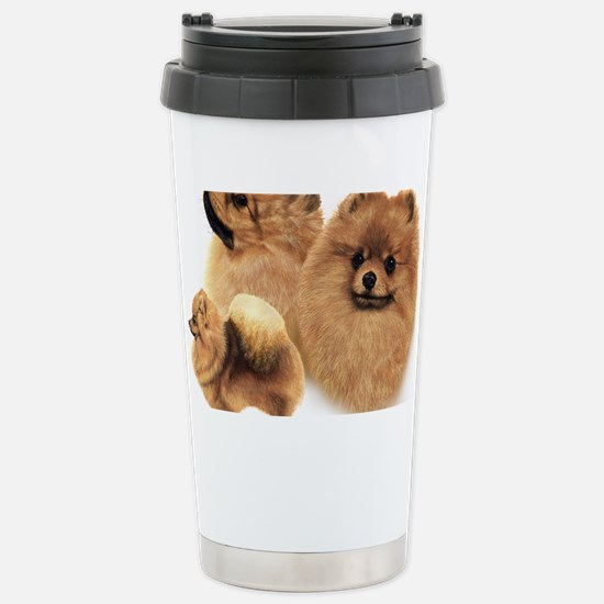 Pomeranian Multi Stainless Steel Travel Mug