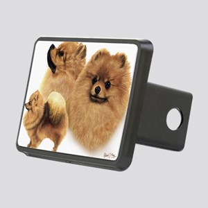 Pomeranian Multi Rectangular Hitch Cover