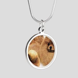 Pomeranian Multi Silver Round Necklace
