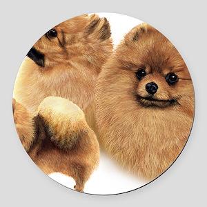 Pomeranian Multi Round Car Magnet