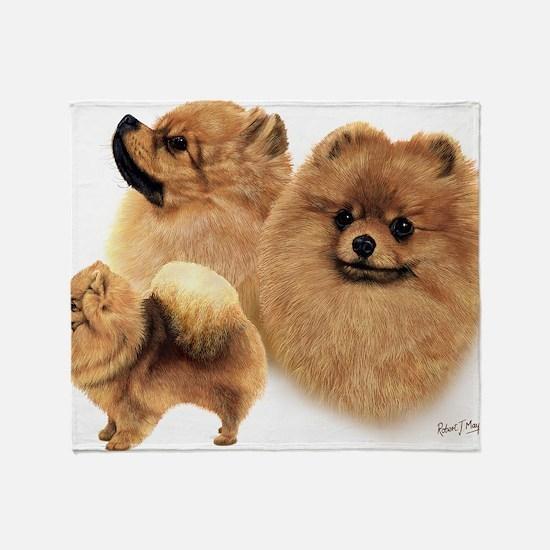Pomeranian Multi Throw Blanket