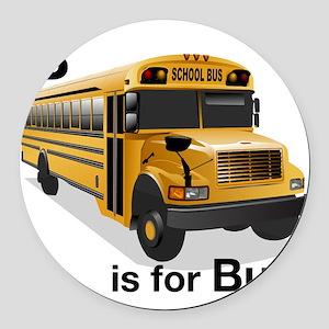 B_is_Bus Round Car Magnet
