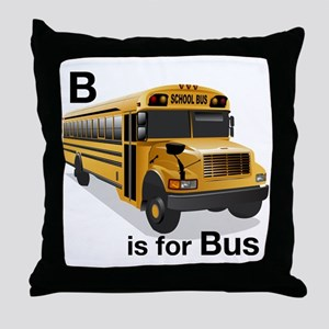B_is_Bus Throw Pillow