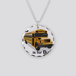 B_is_Bus Necklace Circle Charm
