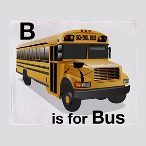 B_is_Bus Throw Blanket