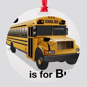 B_is_Bus Round Ornament